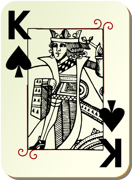 King Of Spades Clip Art At Clkercom Vector Clip Art Online