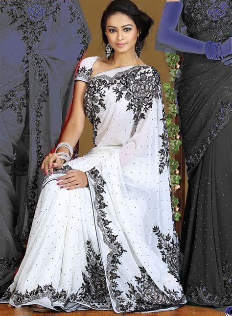 Best 25  White saree ideas on Pinterest   Saree blouse