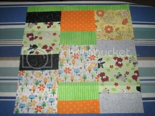Improv Block 1 - My First Quilting Bee for me.