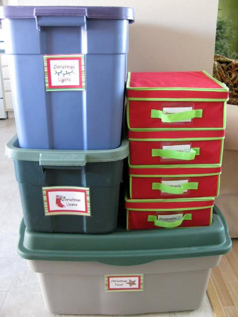 Christmas Storage & Christmas Organization Ideas