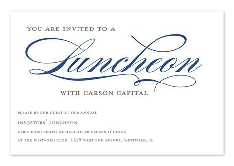 Invited to Lunch   Corporate Invitations by Invitation