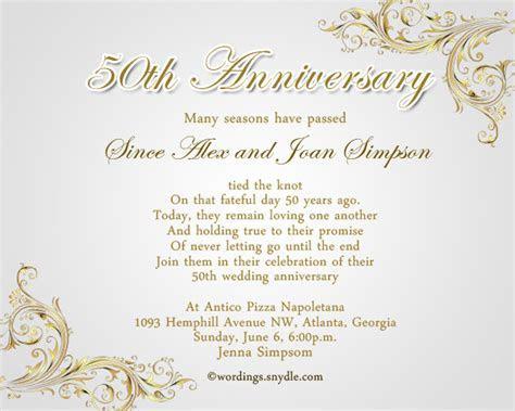 50th Wedding Anniversary Invitation Templates   Templates