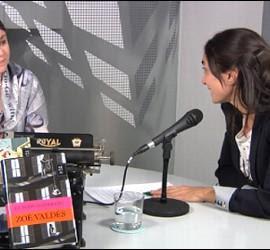 Zoé Valdés durante una entrevista en Periodista Digital.