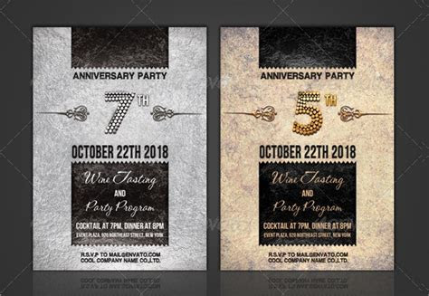 21  Sample Anniversary Invitations   Word, PSD, AI, InDesign