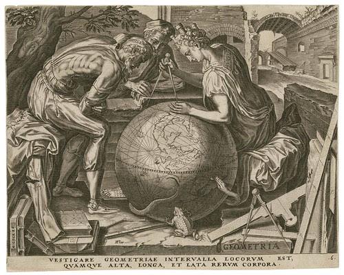 Geometria -- Vestigare geometriae intervalla - Cornelis Cort 1565 (Cock, Floris) (Folger)