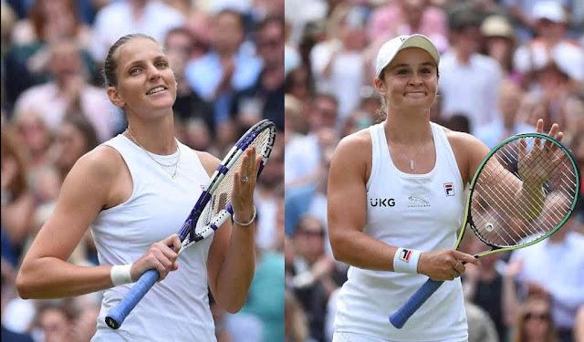 Barty vs Pliskova in the Wimbledon women's singles final today