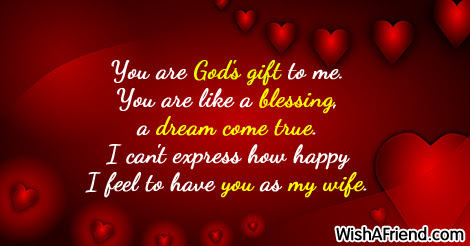 You Are Gods Gift To Me Love Message For Wife