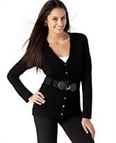 Alfani Long-Sleeve Belted Cardigan