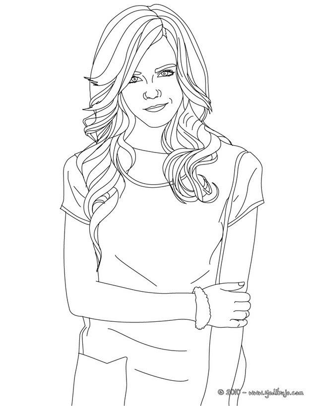 Dibujos Para Colorear Emma Watson Con Camiseta De Mangas Cortas Es
