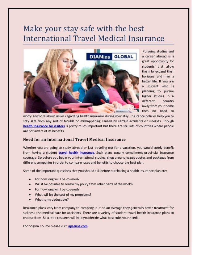 Make your stay safe with the best International Travel ...