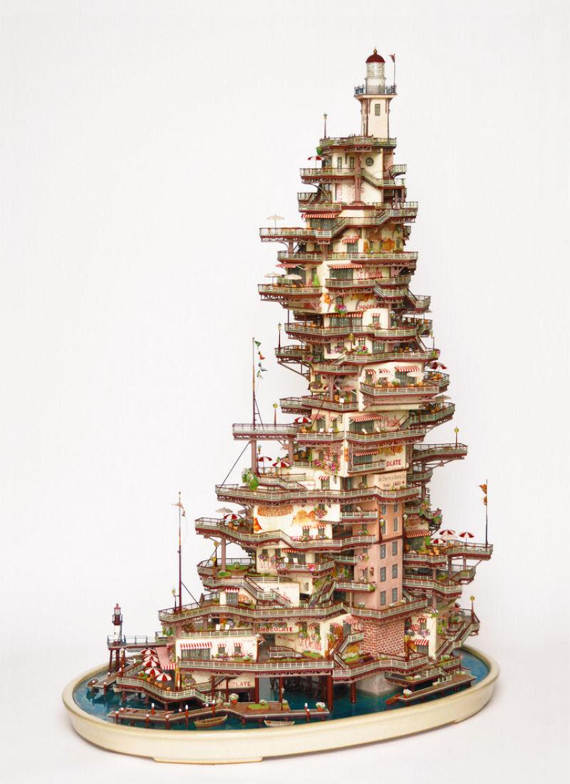 As intrincadas esculturas em miniatura de Takanori Aiba 08