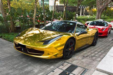 Chrome Gold Ferrari 458   MadWhips