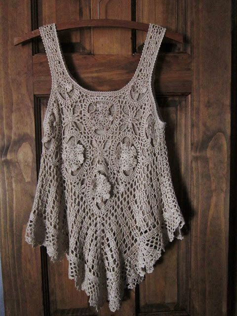 Bohemian Pages: The Little Crochet Top a whole page of crocheted tops - no patterns, just inspirations: