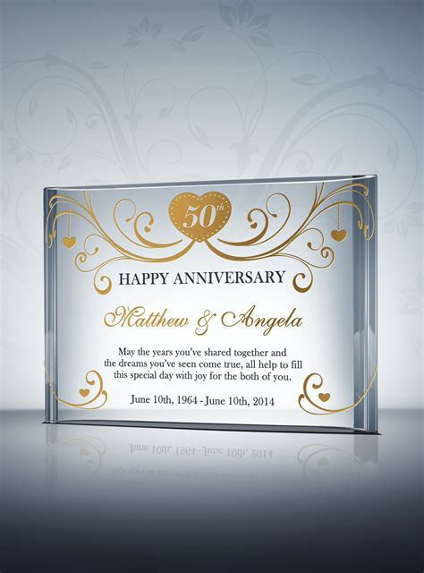 9 Best Images of 50th Anniversary Gifts   50th Wedding