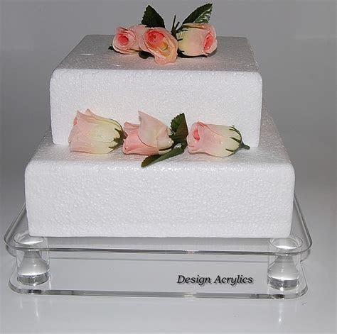 Large Square Stacked Acrylic Wedding Cake Stand