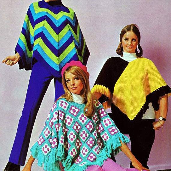Vintage 1970's Ponchos ~ pattern for sale