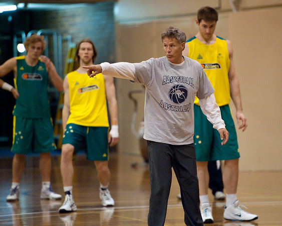 Boomers basketball Head Coach Brett Brown - Boomers - Australian Men's Basketball Team Open Training Session, The Southport School, Queensland, Australia; 28 July 2011. Photos by Des Thureson:  http://disci.smugmug.com.