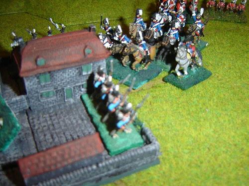 French troops in le Haye Sainte under pressure