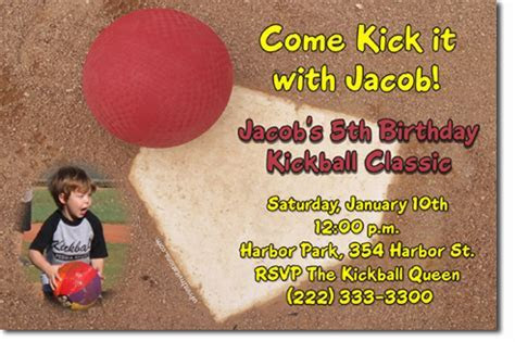 Kickball Birthday Invitations, Candy Wrappers, Thank You