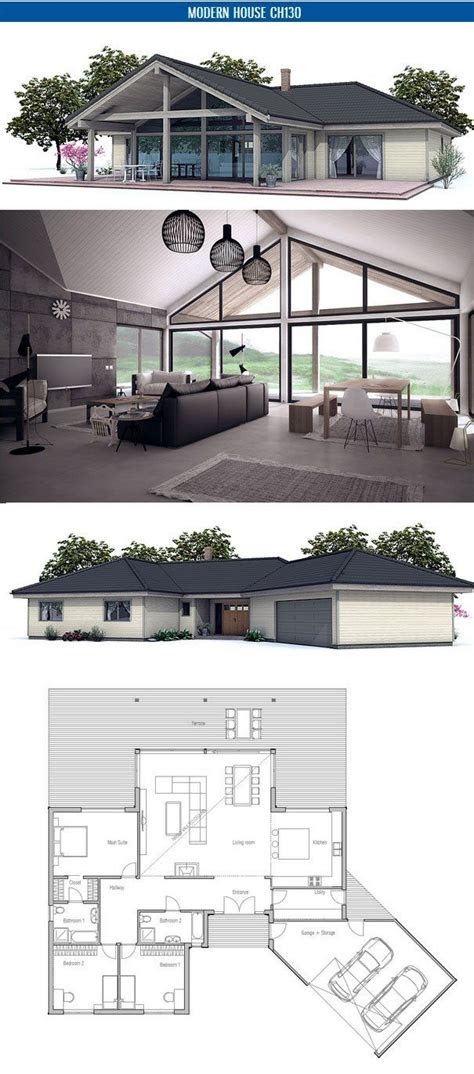 small house floor plan  open planning vaulted ceiling