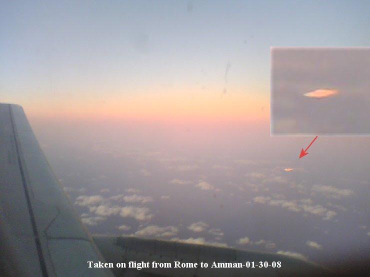 Taken on flight from Rome to Amman-UFO