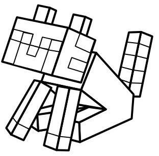 minecraft cat coloring pages at getdrawings  free download