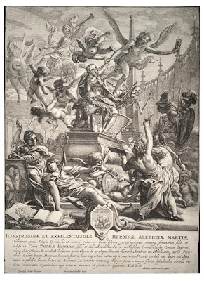 Allegory on the death of the Earl of Arundel - Wenceslaus Hollar