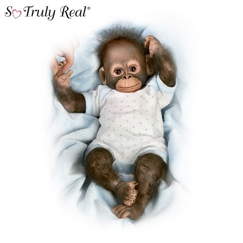 Dollysand Realistic Baby Monkey Doll Baby Zachary By