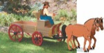Buckboard Driver Woodworking Plan - fee plans from WoodworkersWorkshop® Online Store - horses,buckboards,wagons,western,planters,full sized patterns,woodworking plans,woodworkers projects,blueprints,drawings,blueprints,how-to-build,MeiselWoodHobby
