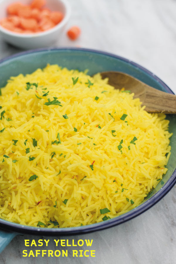 Easy Yellow Saffron Rice | Naive Cook Cooks
