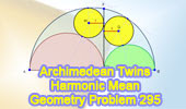 Problem 295: Archimedean Twin Circles.