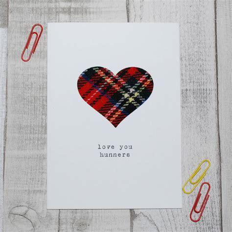 'love you hunners' scottish valentine's day card by hiya