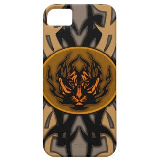 tribal tiger symbol emblem iPhone 5 cases