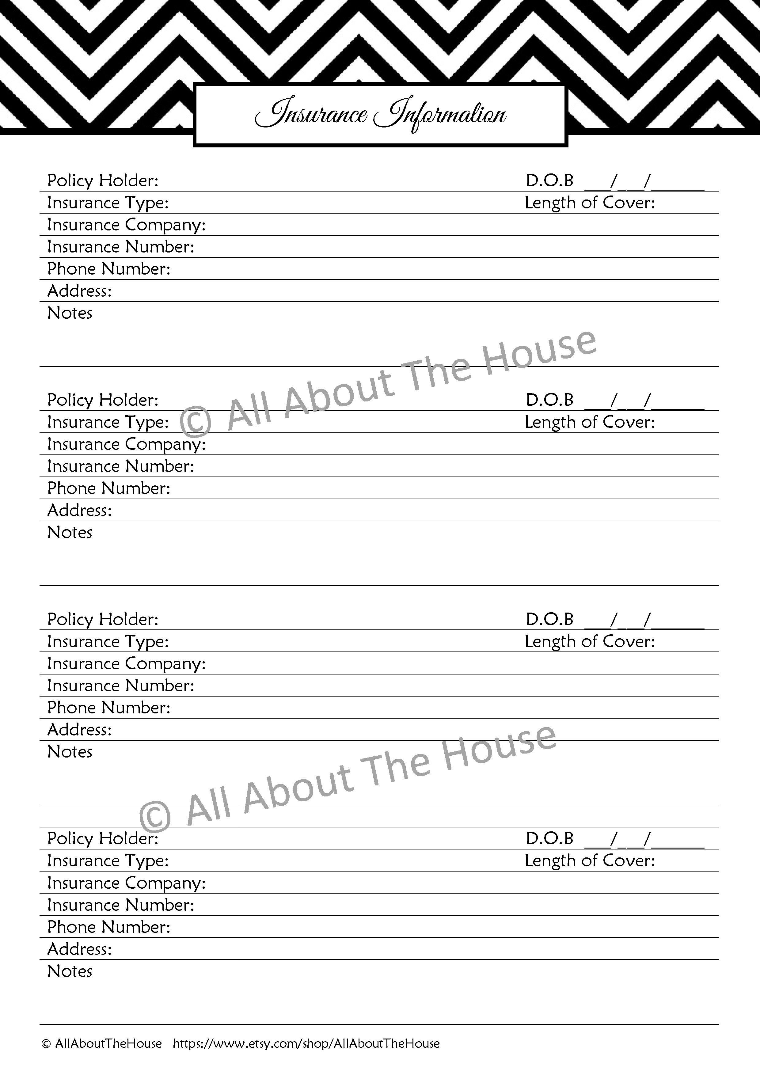 The Important Information Set - Household Binder ...