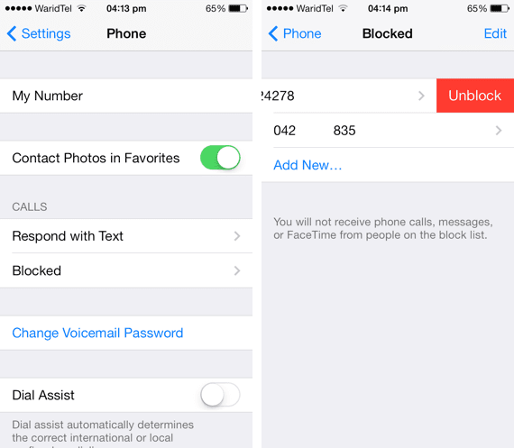How to unblock any number from iOS 7's blocked list - iOS ...