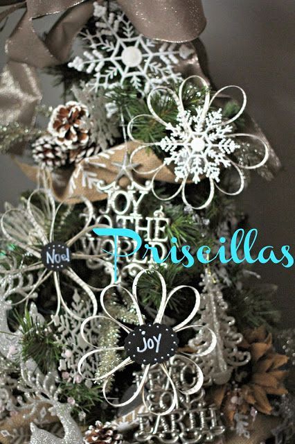 Priscillas: Book Page Ornaments and The Dining Room Tree