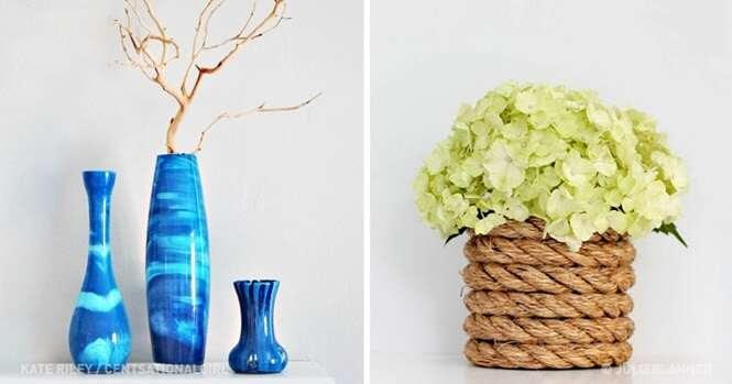 Formas de fazer um belo vaso com as próprias mãos