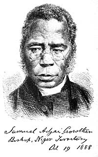 Image result for Rescued from slavery by the British Navy, Samuel Crowther
