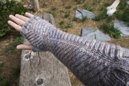 chinook mitts, in progress
