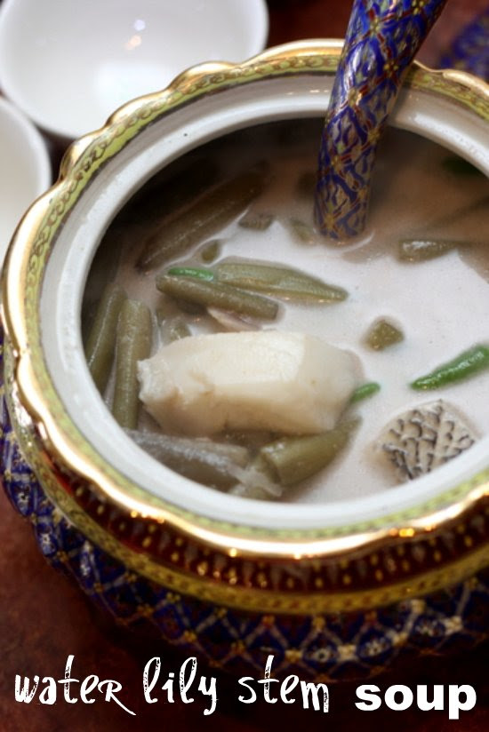 water lily stem soup