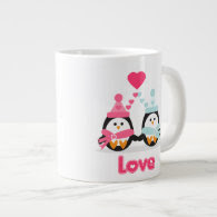 Penguin Love Extra Large Mug