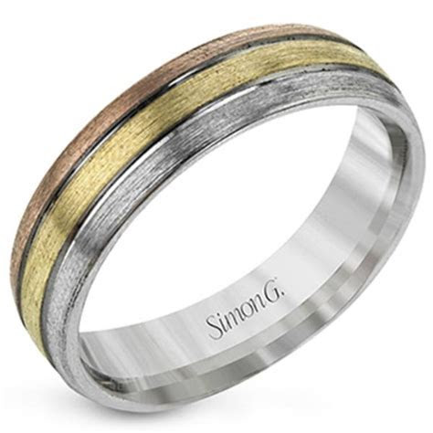 Simon G. Tri Color Gold Men's Wedding Ring
