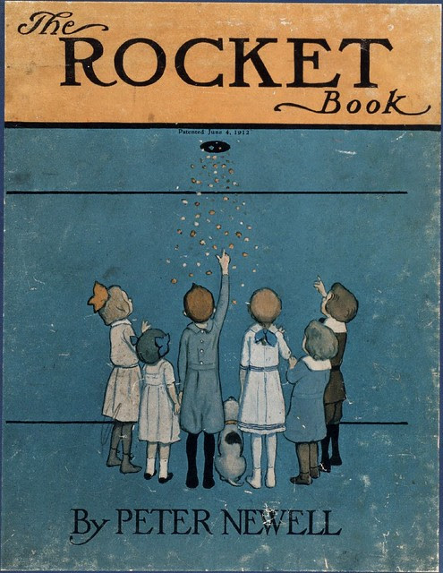 Illustrated children's book : The Rocket Book (cover)