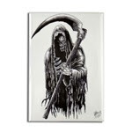 Dark Grim Reaper Of Death Fridge Magnet