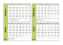2017 Calendar 2 Months Per Page – 2017 Calendar