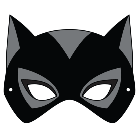 Catwoman Mask Template | Free Printable Papercraft Templates