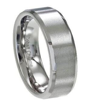 Men's Wedding Ring in Cobalt Chrome, Classic Satin Finish
