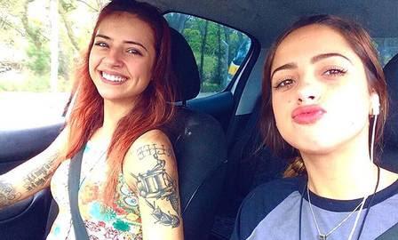 Malu e Ana Clara mostram semelhança com a mãe, Paloma Duarte