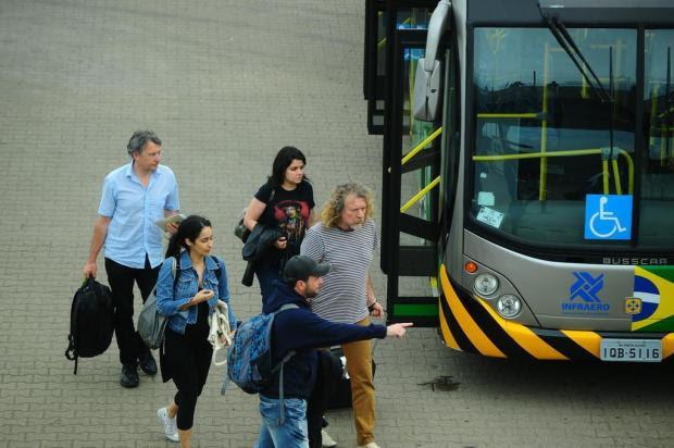 Robert Plant chega a Porto Alegre Jean Schwarz/Agencia RBS