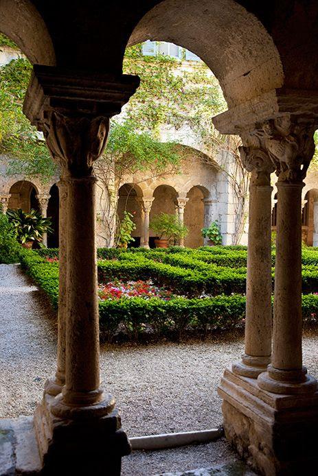 Garden courtyard at Van Gogh's asylum, St. Remy, France